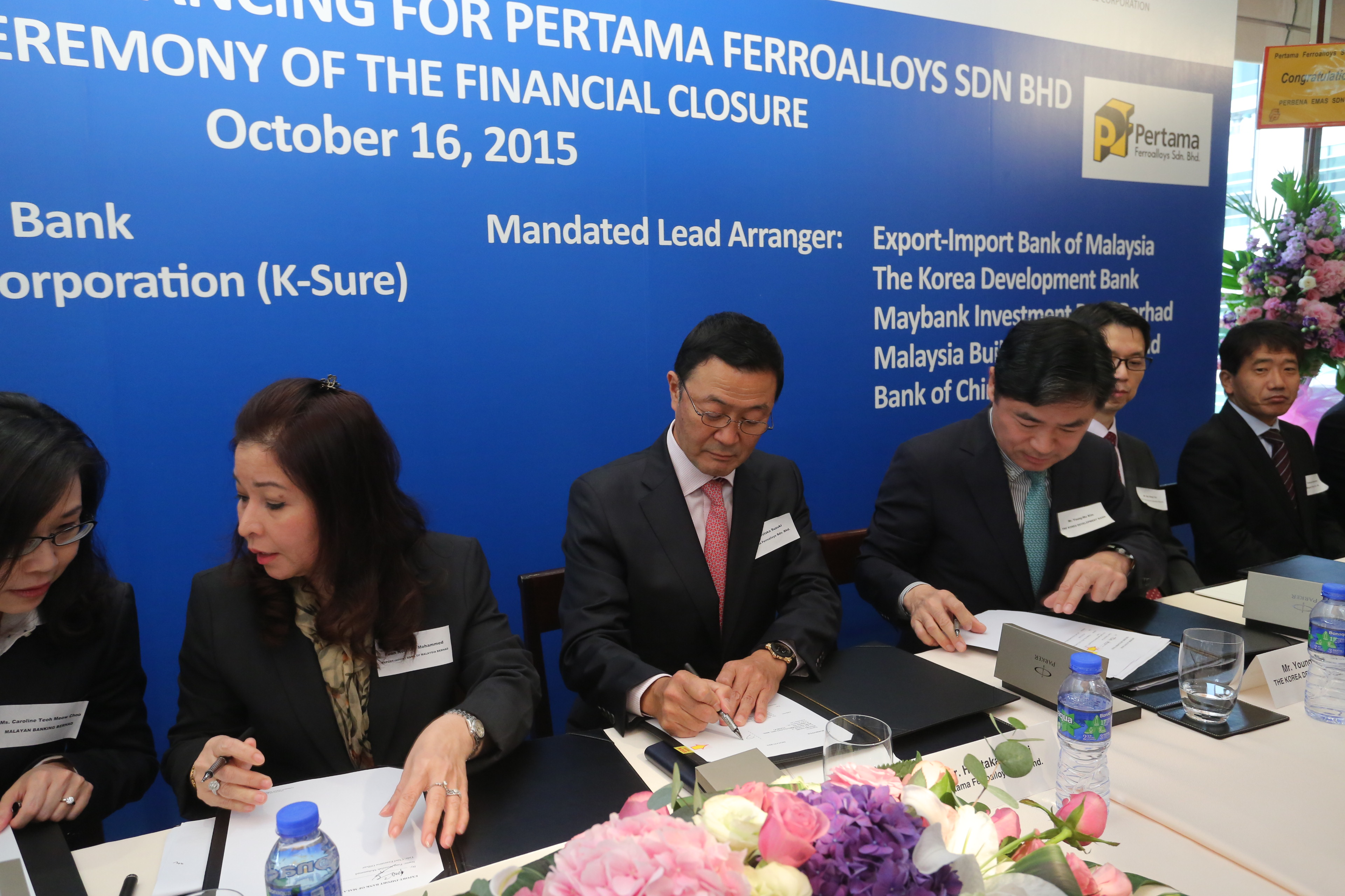 Signing of Project Financing Agreement